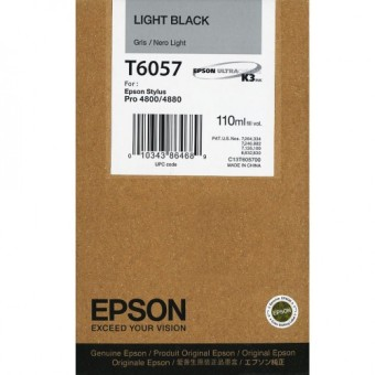 Originálná cartridge EPSON T6057 (Svetlo čierna)