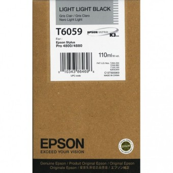 Originálná cartridge EPSON T6059 (Svetlo svetlo čierna)