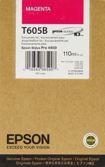 Originálna cartridge EPSON T605B (Purpurová)