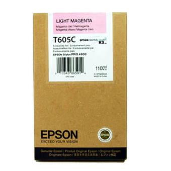 Originálna cartridge EPSON T605C (Svetlo purpurová)