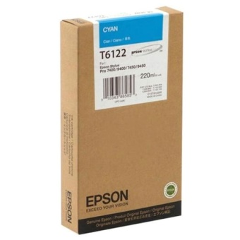 Originálná cartridge EPSON T6122 (Azúrová)