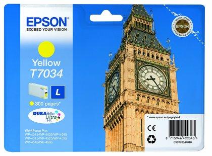 Originálna cartridge EPSON T7034 L (Žltá)