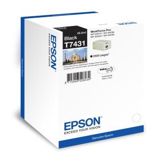 Originálna fľaša s atramentom Epson T7431 (Čierná)
