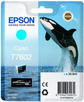 Originálna cartridge EPSON T7602 (Azúrová)