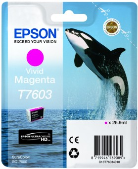 Originálna cartridge Epson T7603 (Naživo purpurová)
