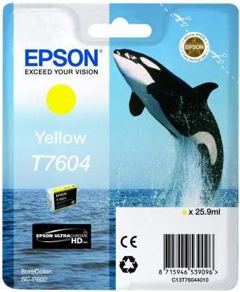 Originálna cartridge EPSON T7604 (Žltá)