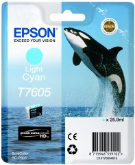 Cartridge do tiskárny Originálna cartridge EPSON T7605 (Svetlo azúrová)