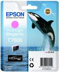 Cartridge do tiskárny Originálna cartridge Epson T7606 (Naživo svetlo purpurová)