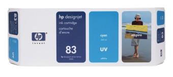 Originálná cartridge HP č. 83 (C4941A) (Azúrová)