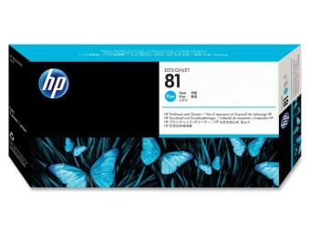 Originálna tlačová hlava HP č. 81 (C4951A) (Azúrová)