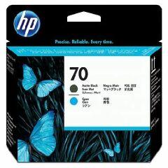 Cartridge do tiskárny Originálna tlačová hlava HP č. 70 (C9404A) (Matně čierna, azúrová)