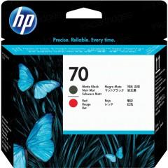 Cartridge do tiskárny Originálna tlačová hlava HP č. 70 (C9409A) (Matná čierna, červená)