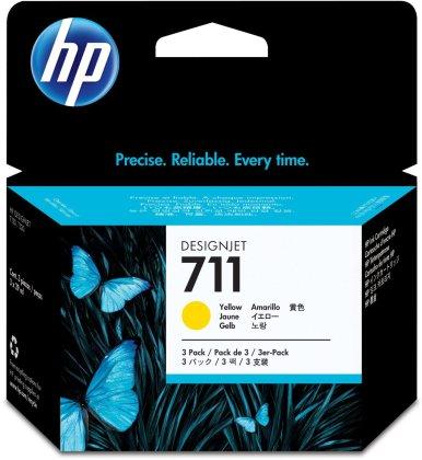 Originálna cartridge HP č. 711 (CZ136A) (Žltá)