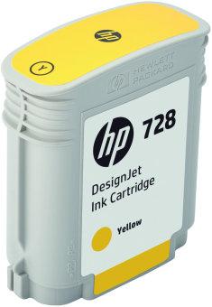 Originálna cartridge HP č. 728 (F9J61A) (Žltá)