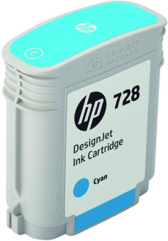 Originálna cartridge HP č. 728 (F9J63A) (Azúrová)