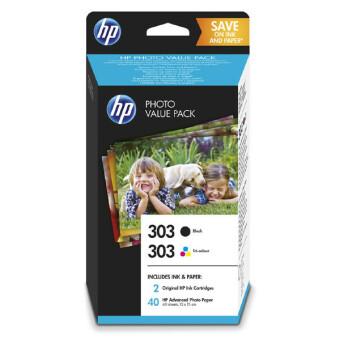 Sada originálných cartridge HP č. 303 (Z4B62EE) + fotopapier