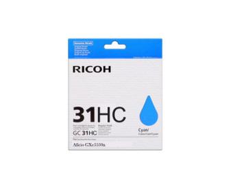 Originálna cartridge Ricoh 405702 (GC-31 HC) (Azúrová)