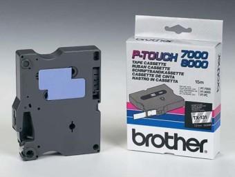 Originálná páska Brother TX-131, 12mm, čierna tlač na priesvitnom podklade
