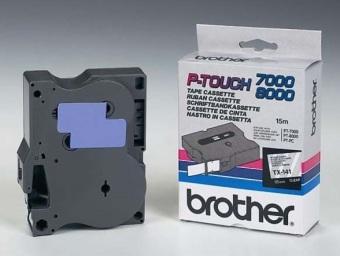 Originálná páska Brother TX-141, 18mm, čierna tlač na priesvitnom podklade