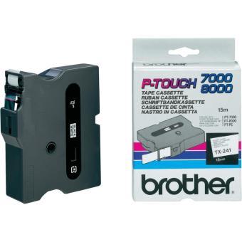 Originálná páska Brother TX-241, 18mm, čierna tlač na bielom podklade