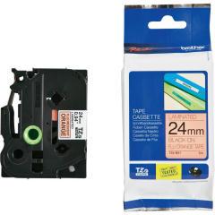 Originálná páska Brother TZE-B51, 24mm, čierna tlač na signálne oranžovom podklade