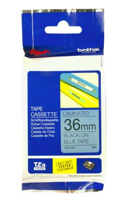 Originálná páska Brother TZE-561, 36mm, čierna tlač na modrom podklade