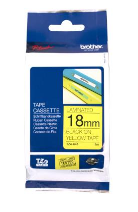 Originálná páska Brother TZE-641, 18mm, čierna tlač na žltom podklade