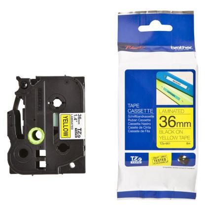 Originálná páska Brother TZE-661, 36mm, čierna tlač na žltom podklade