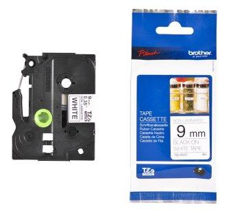 Originálná páska Brother TZE-N221, 9mm, čierna tlač na bielom podklade