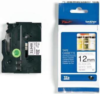 Originálná páska Brother TZE-N231, 12mm, čierna tlač na bielom podklade