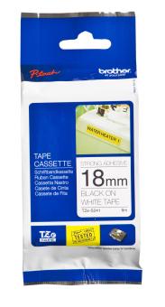 Originálná páska Brother TZE-S241, 18mm, extrémne priľnavá, čierna tlač na bielom podklade