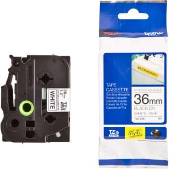 Originálná páska Brother TZE-S261, 36mm, extrémne priľnavá, čierna tlač na bielom podklade