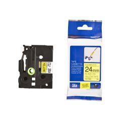 Originálná páska Brother TZE-FX651, 24mm, čierna tlač na žltom podklade, flexibilné