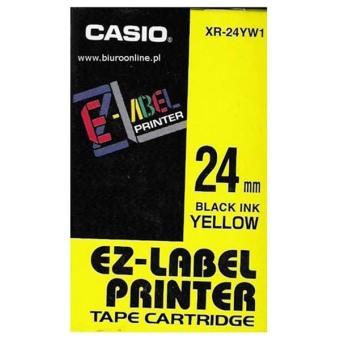 Originálná páska Casio XR-24YW1, 24mm, čierna tlač na žltom podklade