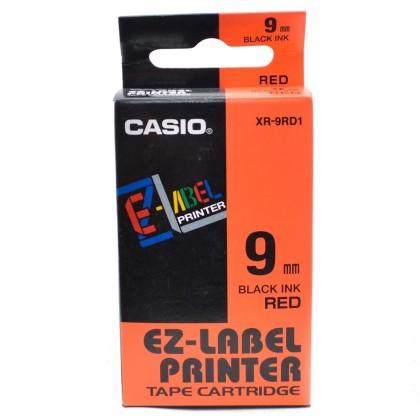 Originálná páska Casio XR-9RD1, 9mm, čierna tlač na červenom podklade