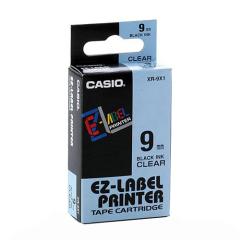 Originálná páska Casio XR-9X1, 9mm, čierna tlač na priesvitnom podklade