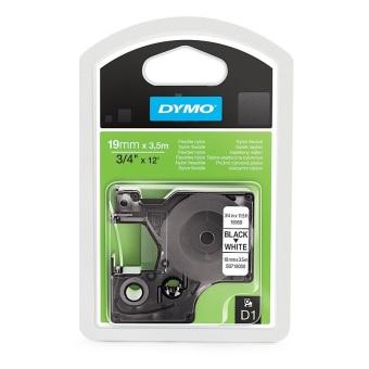 Originálná páska DYMO 16958 (S0718050), 19mm, čierna tlač na bielom podklade, nylonová flexibilná