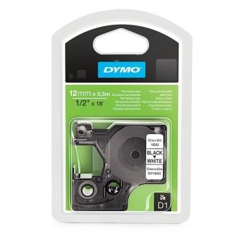 Originálná páska DYMO 16959 (S0718060), 12mm, čierna tlač na bielom podklade, permanentná