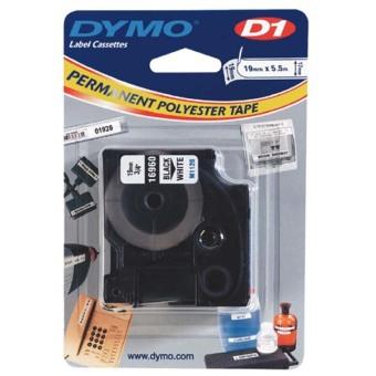 Originálná páska DYMO 16960 (S0718070), 19mm, čierna tlač na bielom podklade, permanentná