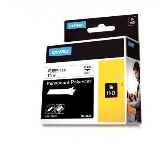 Originálná páska DYMO 1734523, 24mm, čierna tlač na bielom podklade, permanentná polyesterová