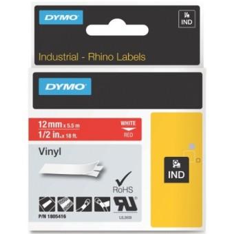 Originálná páska DYMO 1805416, 12mm, biela tlač na červenom podklade, vinylová