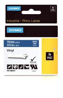 Originálná páska DYMO 1805417, 19mm, biela tlač na modrom podklade, vinylová