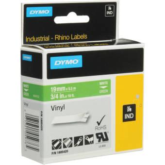 Originálná páska DYMO 1805420, 19mm, biela tlač na zelenom podklade, vinylová