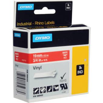 Originálná páska DYMO 1805422, 19mm, biela tlač na červenom podklade, vinylová