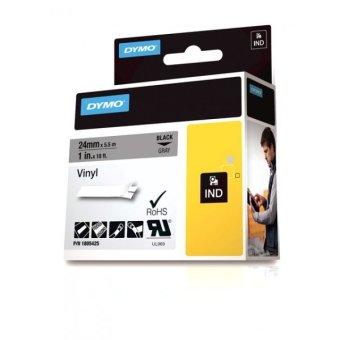 Originálná páska DYMO 1805425, 24mm, čierna tlač na šedom podklade, vinylová