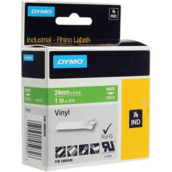 Originálná páska DYMO 1805426, 24mm, biela tlač na zelenom podklade, vinylová