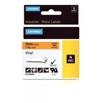 Originálná páska DYMO 1805427, 24mm, čierna tlač na oranžovom podklade, vinylová