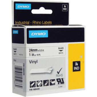 Originálná páska DYMO 1805430, 24mm, čierna tlač na bielom podklade, vinylová