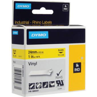 Originálná páska DYMO 1805431, 24mm, čierna tlač na žltom podklade, vinylová
