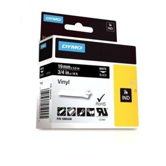 Originálná páska DYMO 1805436, 19mm, biela tlač na čiernom podklade, vinylová